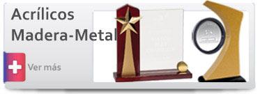 Trofeos de Acrílico Madera y Metal