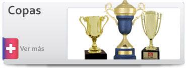 Trofeos Copas metálicas, Copas plásticas
